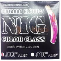 Encordoamento para Guitarra NIG Color Class N1635 Pink .009/042 -
