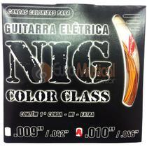 Encordoamento para Guitarra NIG Color Class N1642 Laranja .010/046 -