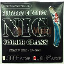 Encordoamento para Guitarra NIG Color Class N1643 Azul .010/046 -