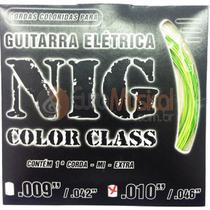 Encordoamento para Guitarra NIG Color Class N1644 Verde .010/046 -