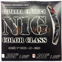 Encordoamento para Guitarra NIG Color Class N1645 Preta .010/046 -
