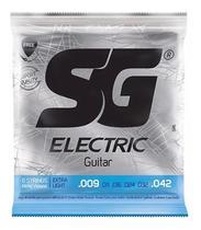 Encordoamento Para Guitarra Sg 009 Nickel Wound + Palheta -
