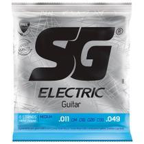 Encordoamento Para Guitarra SG 011 5160 + Mi Extra E Palheta - Sg Strings