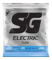 Encordoamento Para Guitarra SG 011 Nickel Wound -