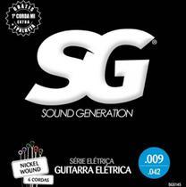 Encordoamento para Guitarra SG SG5145 0.09 com Corda Mi Extra e Palheta -