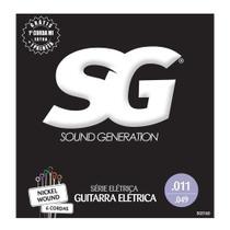 Encordoamento para guitarra sg strings 011 niquel -