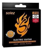 Encordoamento Para Guitarra Slg10 Solez 010 C/2 Cordas Extra -