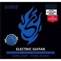 Encordoamento Para Guitarra Solez 095 SLG95 +2 Cordas Extras -