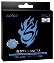 Encordoamento Para Guitarra Solez 095 SLG95 Com 2 Cordas Extras -