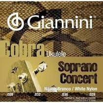 Encordoamento para Ukulele Soprano Concert Cobra 4 cordas Nylon Branco .028 .028 - Giannini