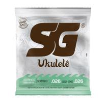 Encordoamento Para Ukulele Soprano Izzo SG Nylon 6 Unidades -