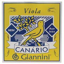 Encordoamento para viola aço gesv - série canário - tensão m - Giannini