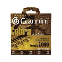 Encordoamento para viola aço prateado tensão leve série cobra gesvl - Giannini