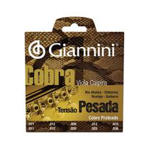 Encordoamento para viola aço prateado tensão pesada série cobra gesvp - Giannini