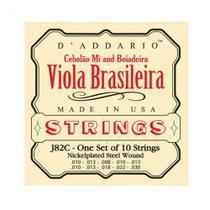 Encordoamento para Viola Brasileira Daddario EJ82C Aço -
