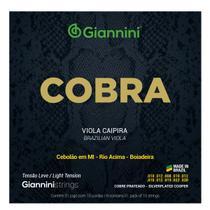 Encordoamento Para Viola Caipira Giannini Tensão Leve Cobra -