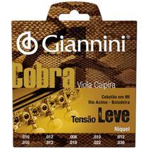 Encordoamento Para Viola Série Cobra Aço Leve Gesvnl Giannini -