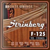 Encordoamento para Violão 12 cordas F12S Strinberg -