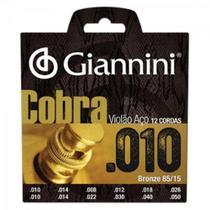 Encordoamento Para Violão 12 Cordas GEE12 Cobra Aço 0.10 GIA - Giannini -