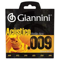 Encordoamento para Violão Aço .009 GESWAL Acústico GIANNINI -