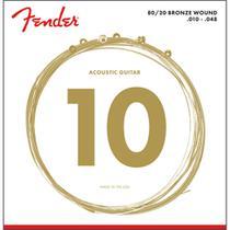 Encordoamento para Violao Aco .010 .048 Fender Tensao Leve Bronze 70XL -