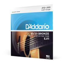Encordoamento Para Violão Aço .012-.053 D'Addario Bronze 80/20 EJ11 - D Addario