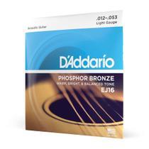 """Encordoamento Para Violão Aço .012-.053 D'Addario Phosphor Bronze Ej16 - D""""Addario"""