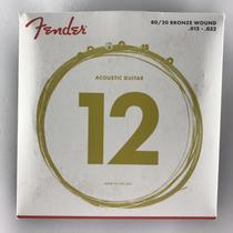 Encordoamento para Violão Aço 0,12 80/20 70L Bronze Wound Fender -