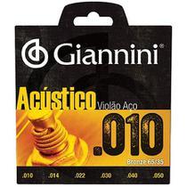 Encordoamento para violão aço acústico .010  bronze geswam - Giannini