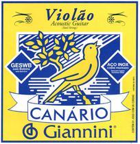 Encordoamento para Violão Aço Com Bolinha Canário GESWB Giannini -