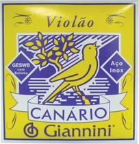 Encordoamento para violão aço geswb com bolinha - série canário - tensão média - Giannini
