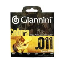 Encordoamento Para Violao Aco Giannini Cobra 0.011 Geeflk -