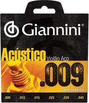Encordoamento Para Violão Acústico Aço .009 Bronze Geswal - Giannini