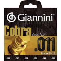 Encordoamento para violão de aço .011 bronze - cobra geeflk - giannini -