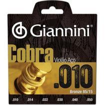 Encordoamento para Violao Geefle Serie Cobra ACO 0.10 Giannini -
