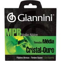Encordoamento para Violão Genwg Com Bolinha Nylon Média - Giannini -