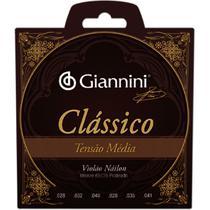 Encordoamento Para Violão Genwpm Clássico Nylon Média Giannini -