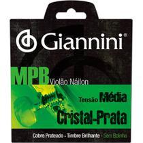 Encordoamento Para Violão Genws Serie Mpb Nylon Medio Giannini -