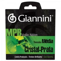 Encordoamento Para Violão GENWS Série MPB Nylon Médio GIANNINI -