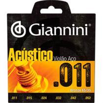 Encordoamento Para Violão Gespw Serie Acústico Aço 0.11 Giannini -