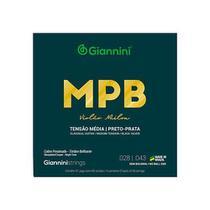 Encordoamento para violao nailon 6 cordas giannini mpb cobre prateado genwbs preto-prata media -