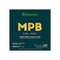 Encordoamento para violao nailon 6 cordas giannini mpb fosforo bronze genwg cristal-ouro media -