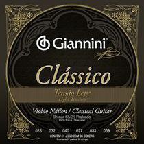 Encordoamento para Violão Náilon Giannini Leve Clássico -