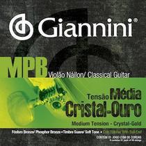 Encordoamento para violão nailon, série mpb, cristal ouro - genwg - giannini -