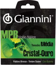 Encordoamento para violão nylon cristal-ouro tensao média com bolinha genwg - Giannini