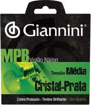 Encordoamento Para Violão Nylon Cristal-Prata Tensão Média Sem Bolinha Genws - Giannini