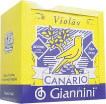 Encordoamento para violão nylon genwb com bolinha - série canário - tensão média - Giannini