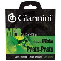 Encordoamento Para Violão Nylon GENWBS Série MPB Médio Giannini -