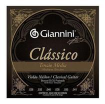 Encordoamento Para Violão Nylon Média Giannini Clássico -