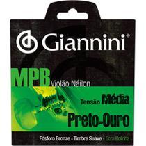 Encordoamento Para Violão Nylon Mpb Ouro Genwbg Giannini -